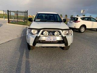 2012 Mitsubishi Triton MN MY12 GLX (4x4) White 4 Speed Automatic 4x4 Double Cab Utility.