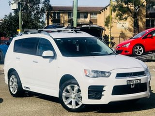 2010 Mitsubishi Outlander ZH MY10 RX White 6 Speed Constant Variable Wagon.