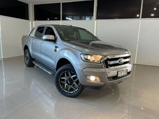 2016 Ford Ranger PX MkII XLT Double Cab 4x2 Hi-Rider Silver, Chrome 6 Speed Manual Utility.