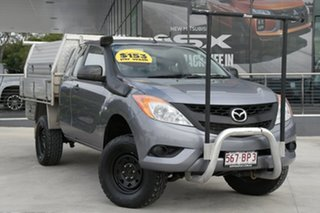 2014 Mazda BT-50 UP0YF1 XT Freestyle Grey 6 Speed Manual Cab Chassis.