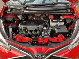 2016 Toyota Yaris NCP130R Ascent Red 4 Speed Automatic Hatchback.