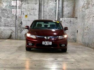 2013 Honda Civic 9th Gen Hybrid Burgundy 1 Speed Constant Variable Sedan Hybrid.