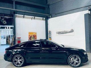 2014 Audi A7 4G MY14 Bi-Turbo Sportback Tiptronic Quattro Black 8 Speed Sports Automatic Hatchback.