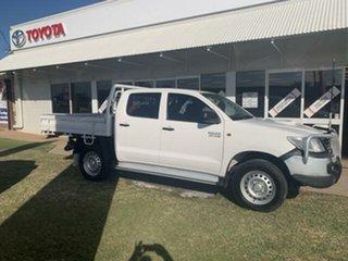 2014 Toyota Hilux KUN26R MY14 SR (4x4) White 5 Speed Automatic Dual Cab Pick-up.