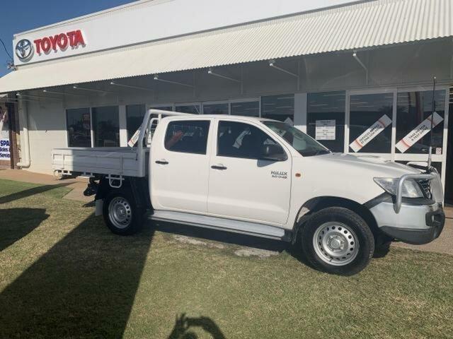 Used Toyota Hilux KUN26R MY14 SR (4x4) Emerald, 2014 Toyota Hilux KUN26R MY14 SR (4x4) White 5 Speed Automatic Dual Cab Pick-up