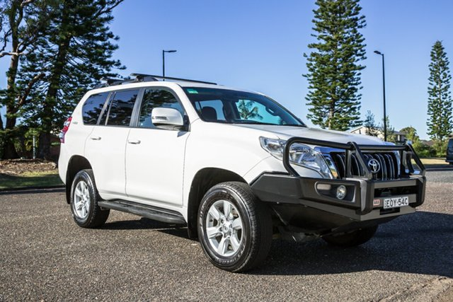 Used Toyota Landcruiser Prado KDJ150R MY14 GXL Port Macquarie, 2015 Toyota Landcruiser Prado KDJ150R MY14 GXL White 5 Speed Sports Automatic Wagon