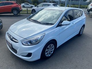 2016 Hyundai Accent RB4 MY17 Active Century White 6 Speed Constant Variable Hatchback.