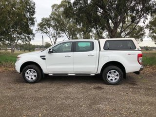 2013 Ford Ranger PX XLT Double Cab 4x2 Hi-Rider White 6 Speed Sports Automatic Utility