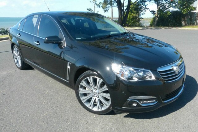 Used Holden Calais VF MY14 V Gladstone, 2014 Holden Calais VF MY14 V Black 6 Speed Sports Automatic Sedan