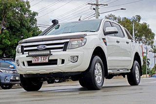 2014 Ford Ranger PX XLS Double Cab Cool White 6 Speed Sports Automatic Utility