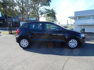2012 Volkswagen Polo 6R MY12.5 Trendline DSG Black 7 Speed Automatic Hatchback