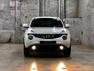 2013 Nissan Juke F15 MY14 ST 2WD White 5 Speed Manual Hatchback.