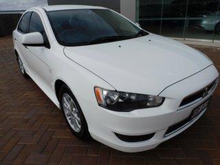2012 Mitsubishi Lancer CJ MY13 LX White 5 Speed Manual Sedan.
