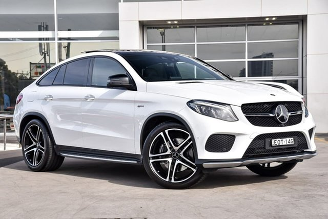 Used Mercedes-Benz GLE-Class C292 MY808+058 GLE43 AMG Coupe 9G-Tronic 4MATIC Liverpool, 2018 Mercedes-Benz GLE-Class C292 MY808+058 GLE43 AMG Coupe 9G-Tronic 4MATIC Polar White 9 Speed
