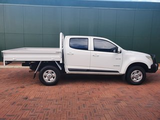 2014 Holden Colorado RG MY14 LX (4x2) White 6 Speed Automatic Crew Cab Chassis
