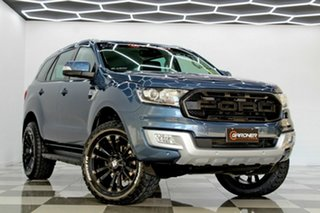 2017 Ford Everest UA MY18 Trend (RWD) Blue 6 Speed Automatic SUV.
