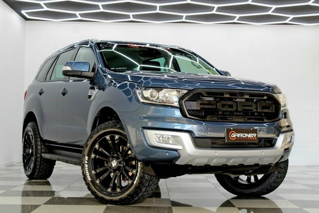 Used Ford Everest UA MY18 Trend (RWD) Burleigh Heads, 2017 Ford Everest UA MY18 Trend (RWD) Blue 6 Speed Automatic SUV
