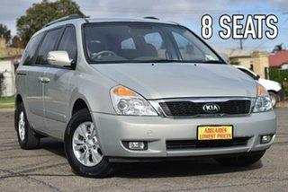 2012 Kia Grand Carnival VQ MY12 SI Silver 6 Speed Sports Automatic Wagon.