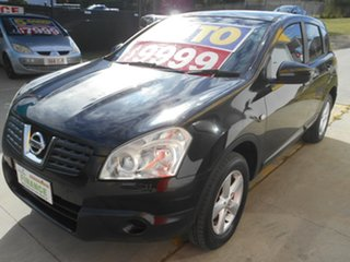 2009 Nissan Dualis J10 MY2009 ST Hatch X-tronic Black 6 Speed Constant Variable Hatchback.