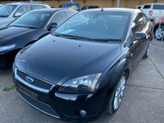 2008 Ford Focus LT Coupe Cabriolet Black 4 Speed Sports Automatic Convertible.