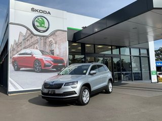 2021 Skoda Karoq NU MY21 110TSI FWD Silver 8 Speed Automatic Wagon.