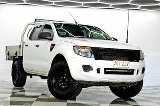 2013 Ford Ranger PX XL 2.2 Hi-Rider (4x2) White 6 Speed Manual Crew Cab Pickup.
