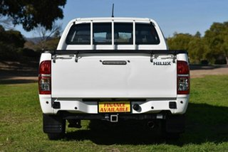 2015 Toyota Hilux TGN16R MY14 Workmate Double Cab 4x2 White 4 Speed Automatic Utility