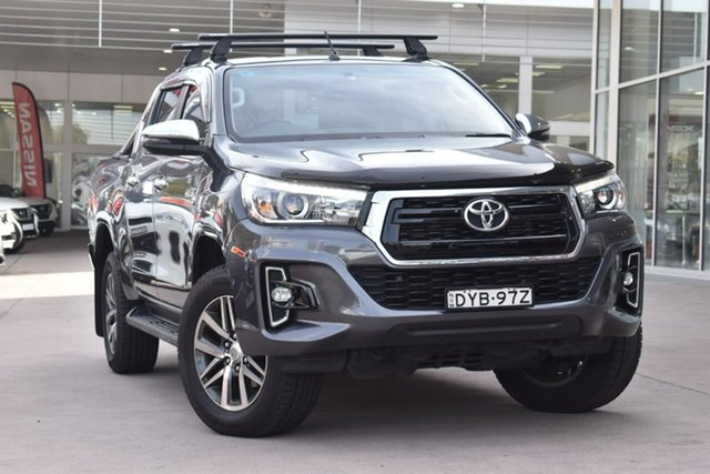 Used Toyota Hilux GUN126R SR5 Double Cab Blacktown, 2018 Toyota Hilux GUN126R SR5 Double Cab Grey 6 Speed Sports Automatic Utility
