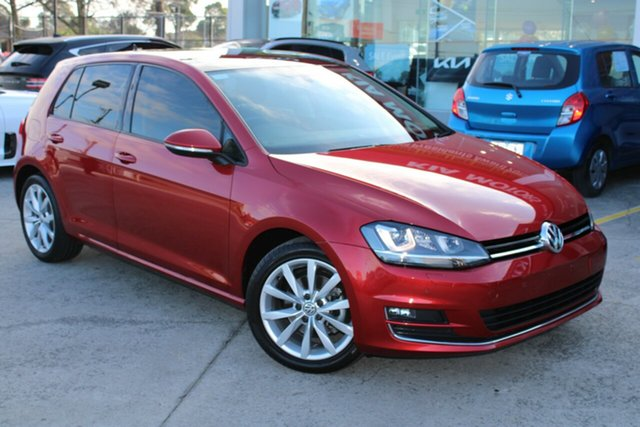 Used Volkswagen Golf VII MY16 110TSI DSG Highline Ferntree Gully, 2016 Volkswagen Golf VII MY16 110TSI DSG Highline Red 7 Speed Sports Automatic Dual Clutch Hatchback