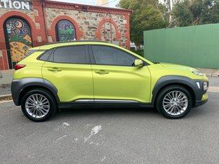 2017 Hyundai Kona OS MY18 Elite D-CT AWD Acid Yellow & Black Roof 7 Speed.