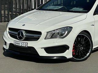 2016 Mercedes-Benz CLA-Class X117 807MY CLA45 AMG Shooting Brake SPEEDSHIFT DCT 4MATIC White 7 Speed
