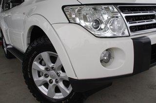 2009 Mitsubishi Pajero NT MY09 GLS White Solid 5 Speed Sports Automatic Wagon.