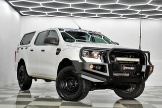2016 Ford Ranger PX MkII MY17 XL 2.2 (4x4) White 6 Speed Automatic Crew Cab Utility.