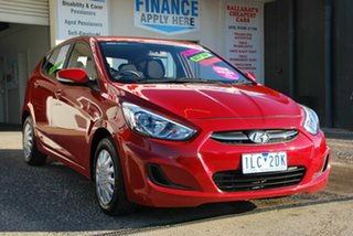 2015 Hyundai Accent RB3 MY16 Active Red 6 Speed CVT Auto Sequential Hatchback