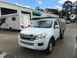 2016 Isuzu D-MAX MY15.5 SX 4x2 High Ride White 5 speed Automatic Cab Chassis.