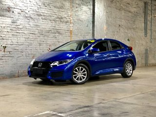 2015 Honda Civic 9th Gen MY15 VTi-S Blue 6 Speed Manual Hatchback.
