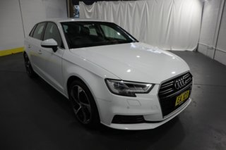 2018 Audi A3 8V MY18 Sportback S Tronic White 7 Speed Sports Automatic Dual Clutch Hatchback.