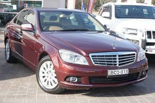2007 Mercedes-Benz C-Class W204 C200 Kompressor Elegance Purple 5 Speed Sports Automatic Sedan.