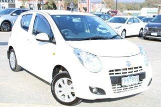 2011 Suzuki Alto GF GLX White 4 Speed Automatic Hatchback.