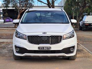 2015 Kia Carnival YP MY15 Platinum White 6 Speed Sports Automatic Wagon.