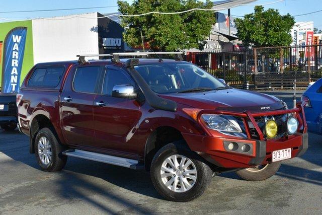 Used Mazda BT-50 MY13 GT (4x4) Underwood, 2014 Mazda BT-50 MY13 GT (4x4) Maroon 6 Speed Automatic Dual Cab Utility