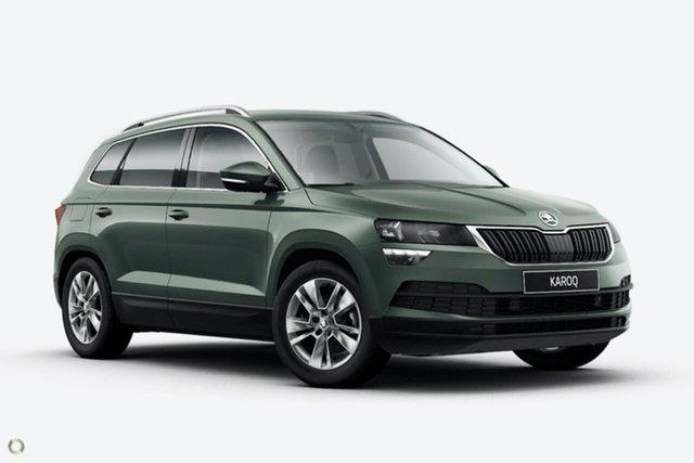 New Skoda Karoq NU MY21 110TSI FWD Seaford, 2021 Skoda Karoq NU MY21 110TSI FWD Green 8 Speed Automatic Wagon
