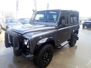 2015 Land Rover Defender MY16 90 Grey Matter with Black Roof 6 Speed Manual Wagon.