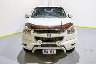 2013 Holden Colorado RG MY14 LX Crew Cab White 6 Speed Manual Utility.