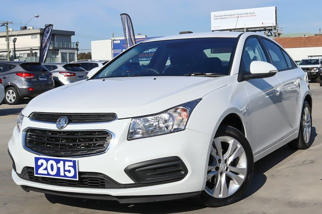 Used Holden Cruze JH Series II MY16 Equipe Coburg North, 2015 Holden Cruze JH Series II MY16 Equipe White 6 Speed Sports Automatic Sedan