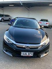 2017 Honda Civic 10th Gen MY17 VTi-S Black 1 Speed Constant Variable Sedan.