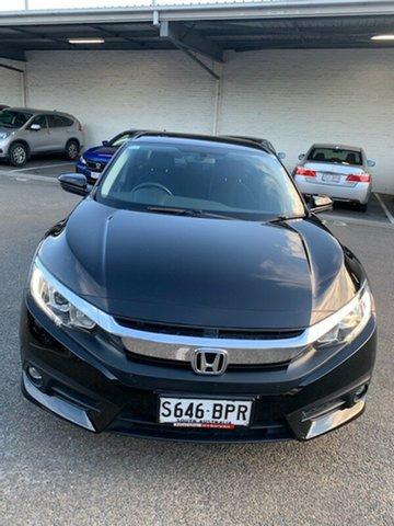 Used Honda Civic 10th Gen MY17 VTi-S Morphett Vale, 2017 Honda Civic 10th Gen MY17 VTi-S Black 1 Speed Constant Variable Sedan