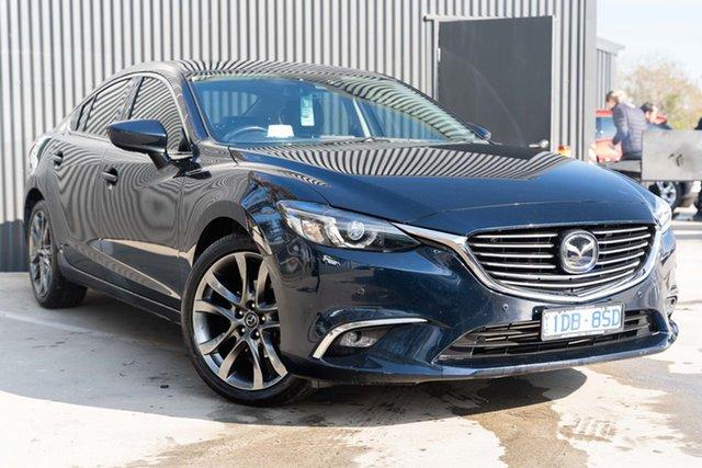 Used Mazda 6 GJ1022 Atenza SKYACTIV-Drive Mornington, 2015 Mazda 6 GJ1022 Atenza SKYACTIV-Drive Deep Crystal Blue 6 Speed Sports Automatic Sedan