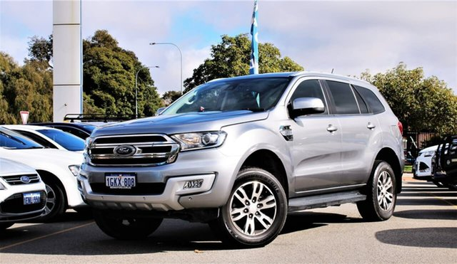 Used Ford Everest UA 2018.00MY Trend Midland, 2017 Ford Everest UA 2018.00MY Trend Silver 6 Speed Sports Automatic SUV