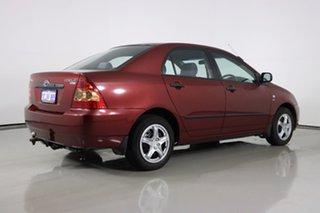 2005 Toyota Corolla ZZE122R Ascent Red 5 Speed Manual Sedan